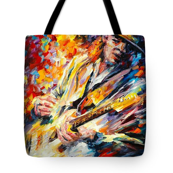 Stevie Ray Vaughan Tote Bag by Leonid Afremov
