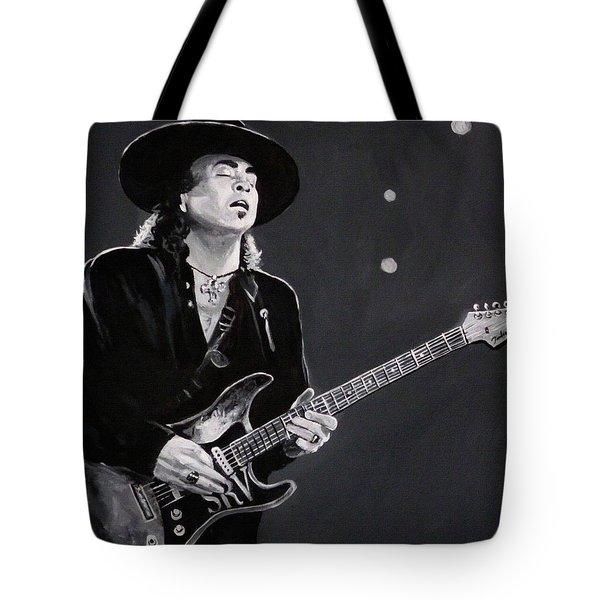 Stevie Ray Vaughan Tote Bag by Tom Carlton