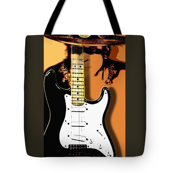 Stevie Ray Vaughan Tote Bag by Larry Butterworth