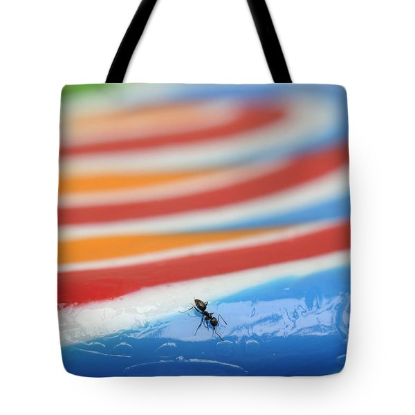 Sticky Rings Of Saturn Tote Bag by Luke Moore