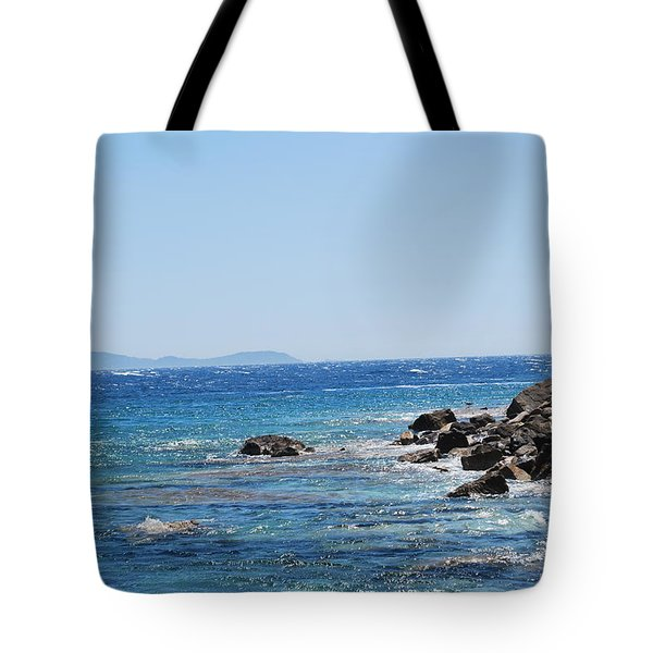 Tote Bag featuring the photograph Stiff Breeze by George Katechis