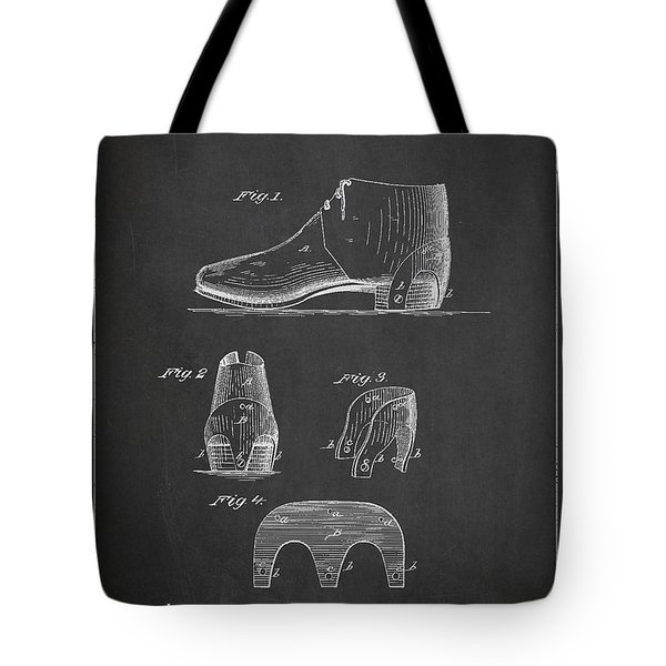 Stiffner For Boots And Shoes Patent Drawing From 1880 Tote Bag by Aged Pixel