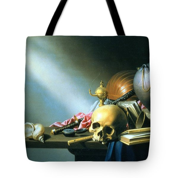 Still Life An Allegory Of The Vanities Of Human Life Tote Bag by Harmen van Steenwyck