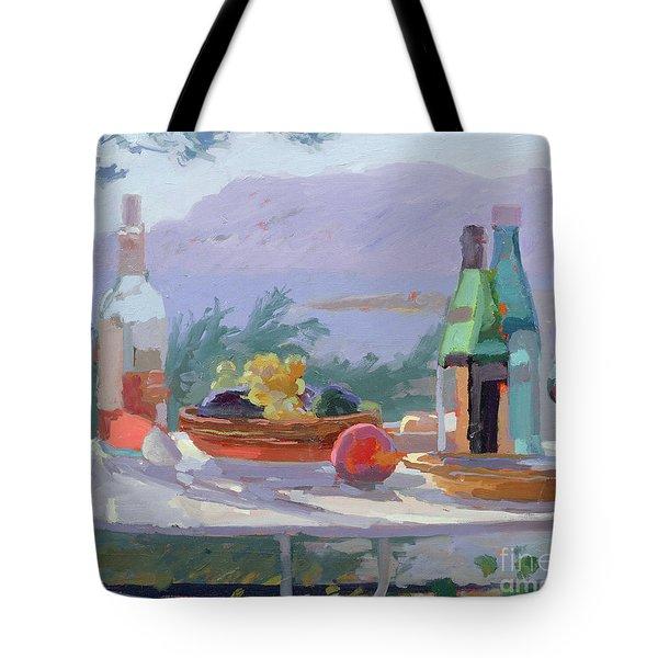 Still Life And Seashore Bandol Tote Bag by Sarah Butterfield