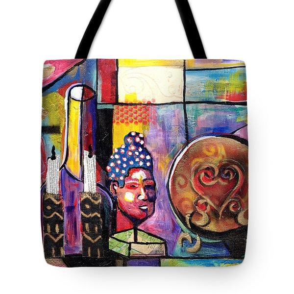 Still Life  / Carols Mantel Tote Bag by Everett Spruill