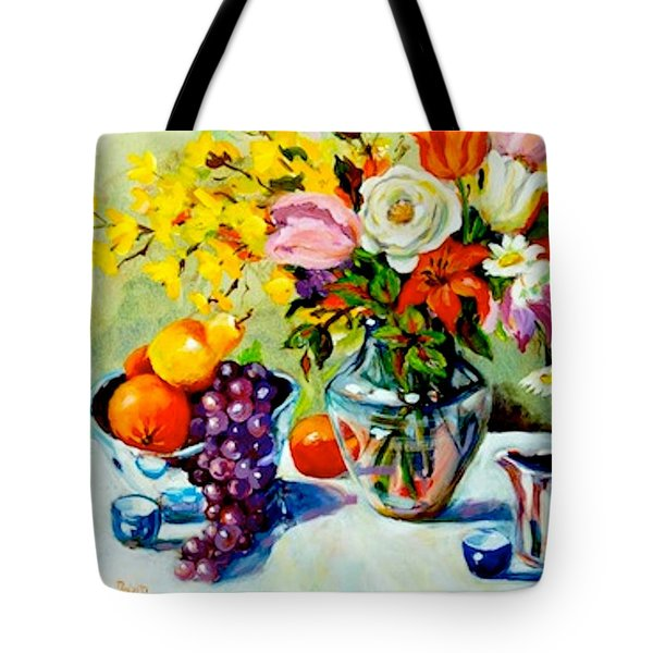 Still Life Creamer Tote Bag