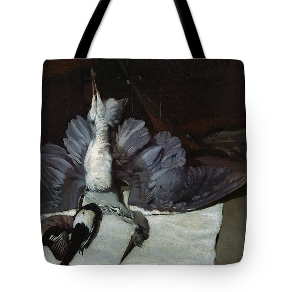 Still-life Heron With Spread Wings, 1867 Oil On Canvas Tote Bag