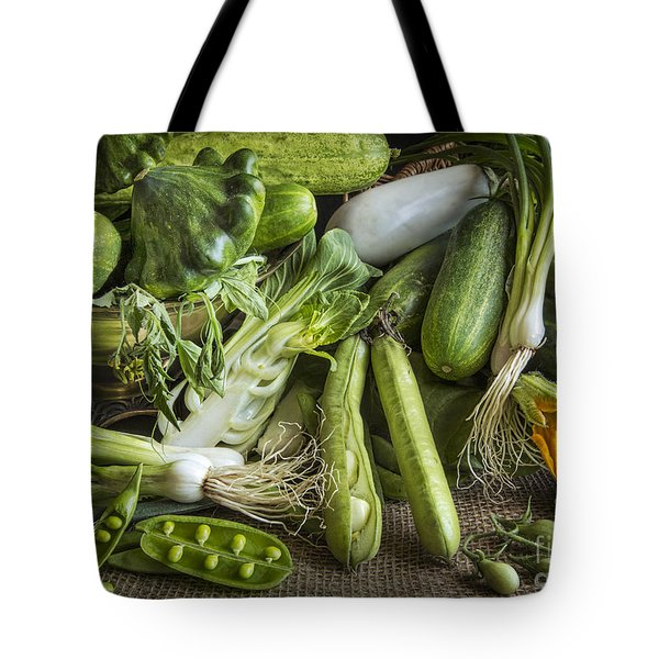 Still Life In Green Tote Bag