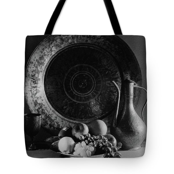 Still Life Of Armenian Plate And Other Tote Bag