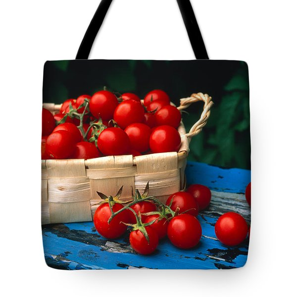 Still Life Of Cherry Tomatoes Tote Bag