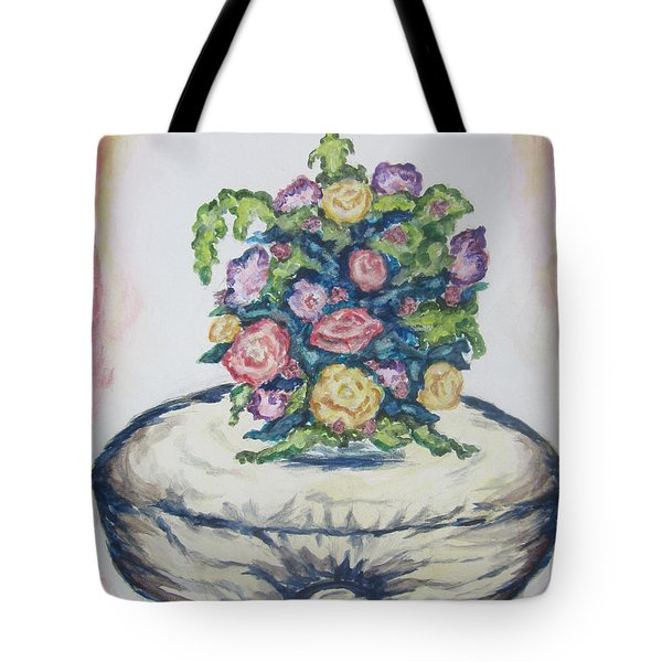Still Life Of Flowers - Wcs Tote Bag