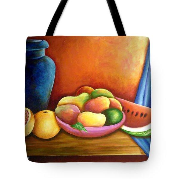 Still Life Of Fruits Tote Bag