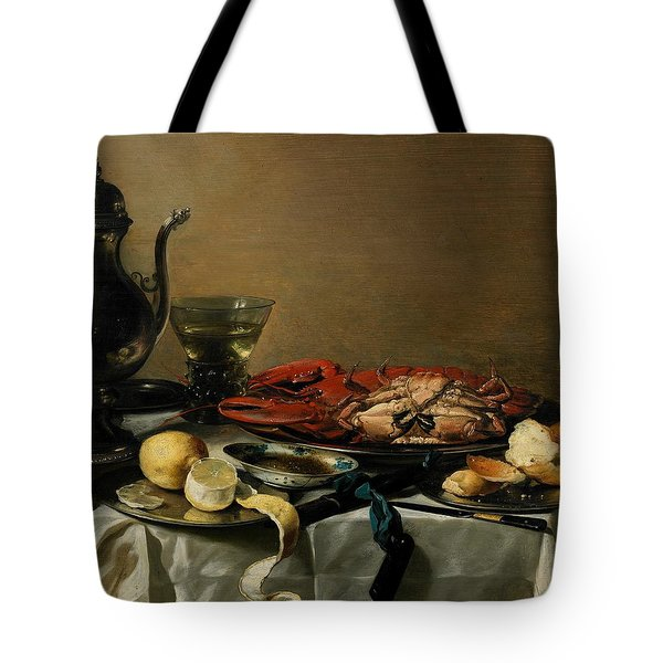 Still Life Tote Bag by Pieter Claesz