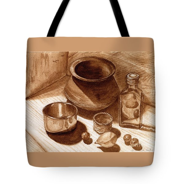 Still Life Walnut Ink Tote Bag