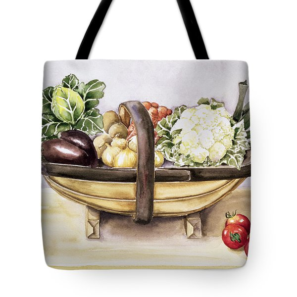 Still Life With A Trug Of Vegetables Tote Bag by Alison Cooper