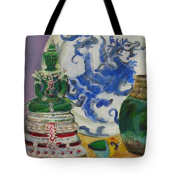 Still Life With Buddha Tote Bag
