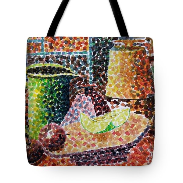 Still Life With Green Jug Painting Tote Bag by Caroline Street
