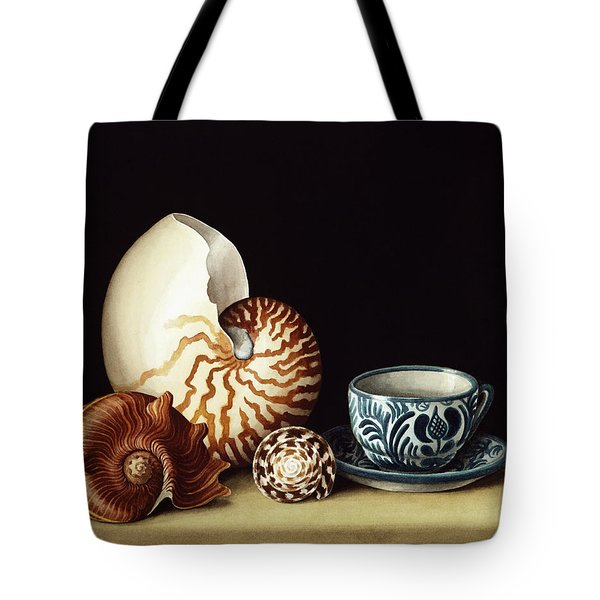 Still Life With Nautilus Tote Bag by Jenny Barron