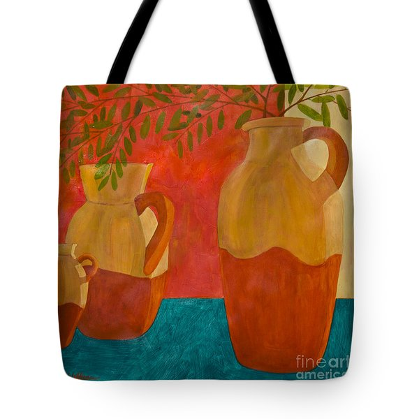 Still Life With Olive Branches II Tote Bag