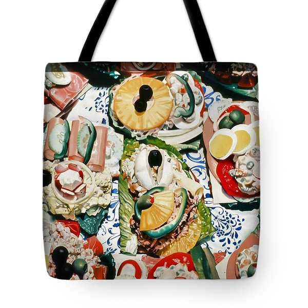 Still Life With Olives Tote Bag
