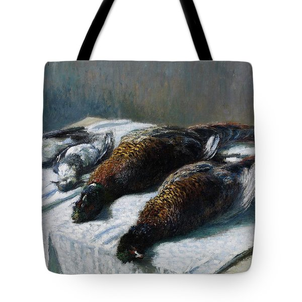 Still Life With Pheasants And Plovers Tote Bag by Claude Monet