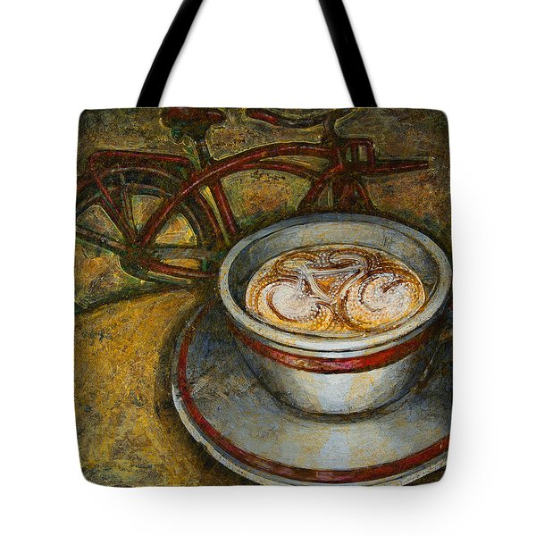 Still Life With Red Cruiser Bike Tote Bag by Mark Jones