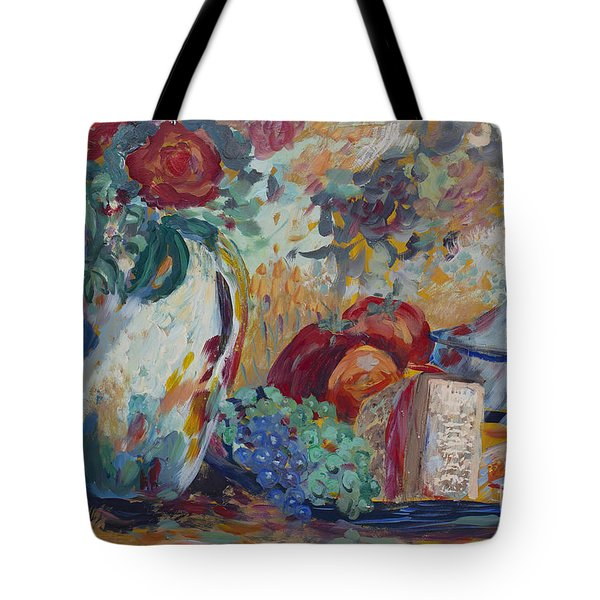 Still Life With Roses Tote Bag by Avonelle Kelsey