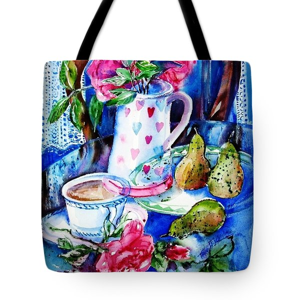 Still Life With Roses  Tote Bag by Trudi Doyle