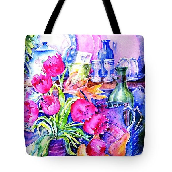 Still Life With Tulips  Tote Bag by Trudi Doyle