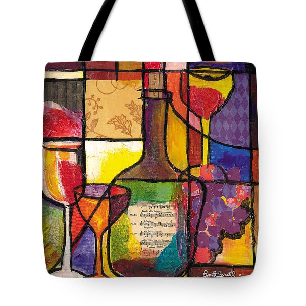 Still Life With Wine And Fruit Tote Bag by Everett Spruill