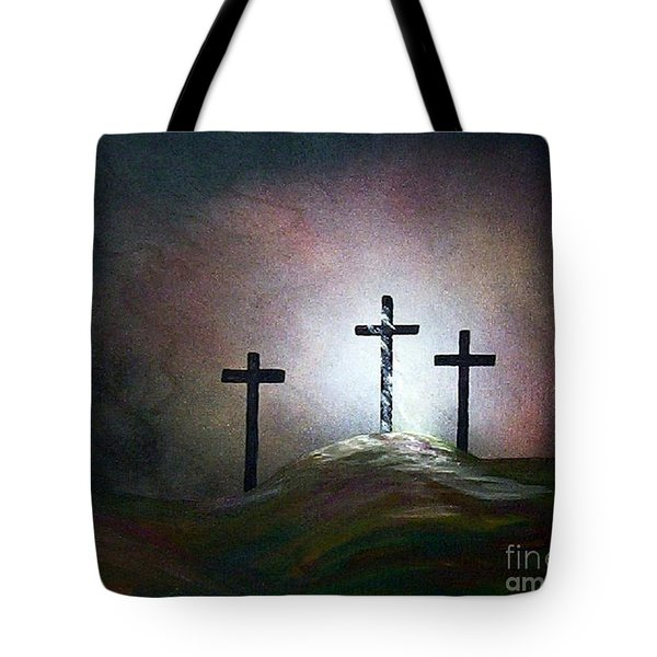 Tote Bag featuring the painting Still The Light by Eloise Schneider