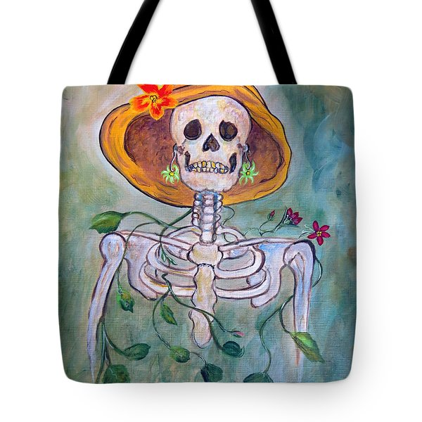 Tote Bag featuring the painting Still Waiting For Mr. Right by Ella Kaye Dickey