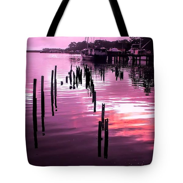 Tote Bag featuring the photograph Still Water Dusk 2 by Wallaroo Images