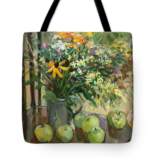 Stilllife With Apples Tote Bag