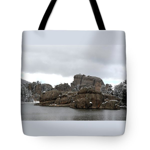 Sylvan Lake In October Tote Bag