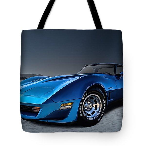 Stingray Blues Tote Bag