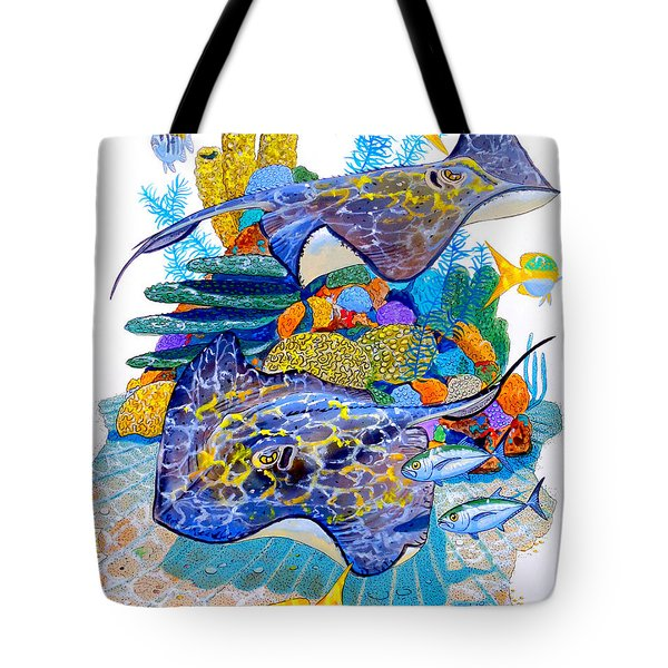 Stingray Play Tote Bag by Carey Chen