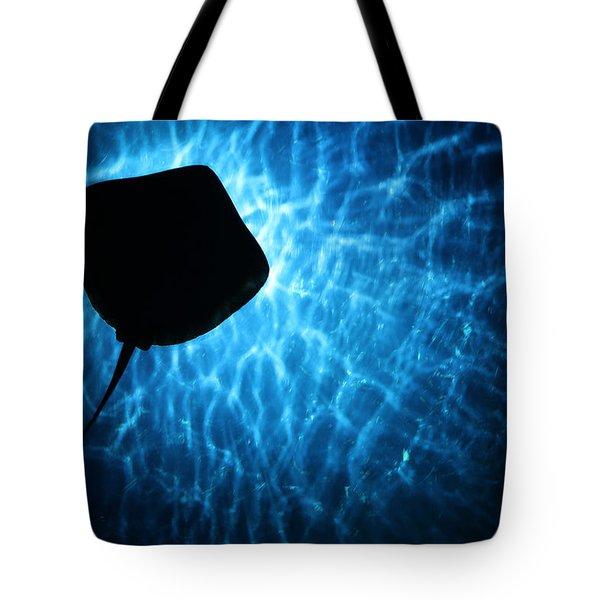 Stingray Silhouette Tote Bag