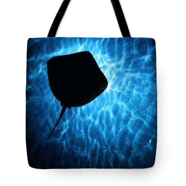 Stingray Silhouette Tote Bag