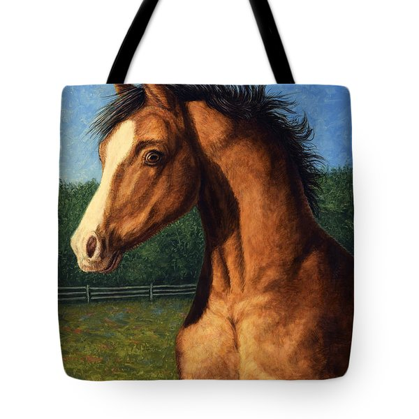 Tote Bag featuring the painting Stir Crazy by James W Johnson