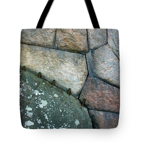 Stitched Stones Tote Bag