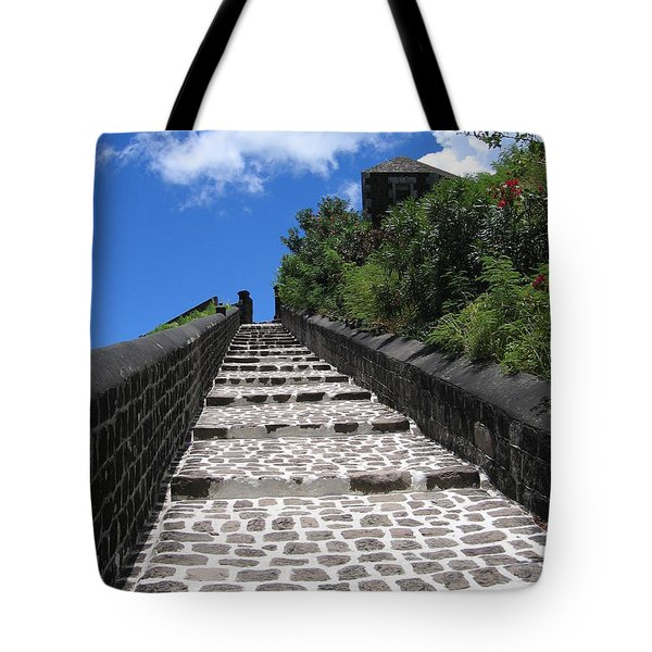 St.kitts - Ascent Tote Bag by HEVi FineArt