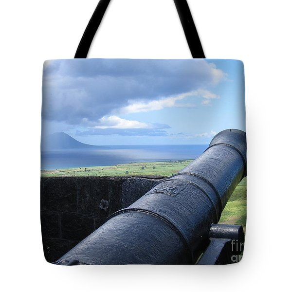 Tote Bag featuring the photograph St.kitts Nevis - On Guard by HEVi FineArt