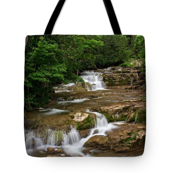 Stockbridge Falls Tote Bag by Dave Files