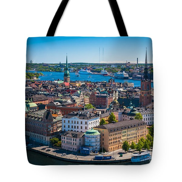 Stockholm From Above Tote Bag