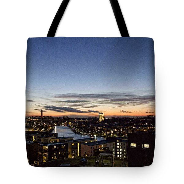 Tote Bag featuring the photograph Stockholm Sunset by Daniel Sheldon