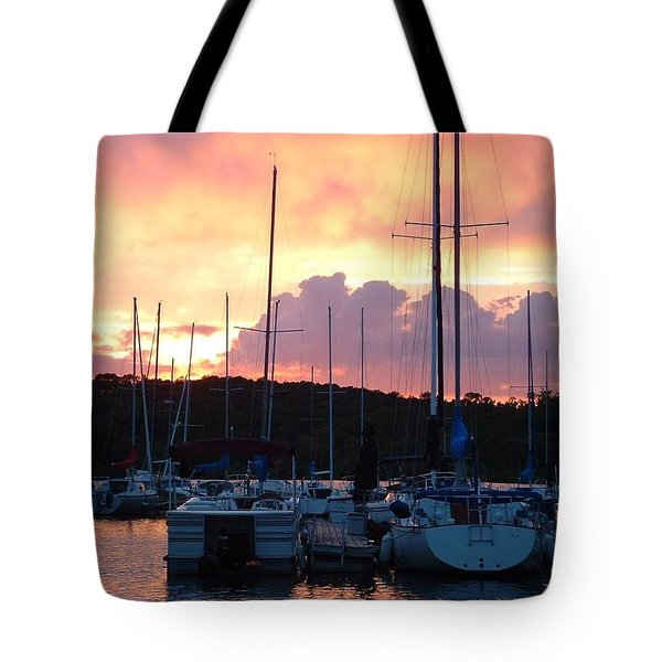 Tote Bag featuring the photograph Stockton Sunset by Deena Stoddard