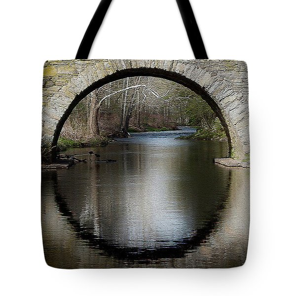 Stone Arch Bridge - Craquelure Texture Tote Bag