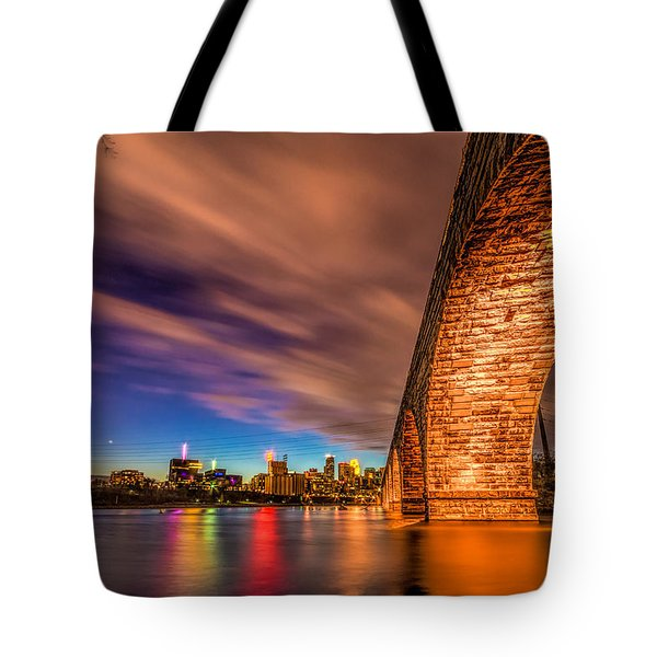 Stone Arch Minneapolis Tote Bag by Mark Goodman