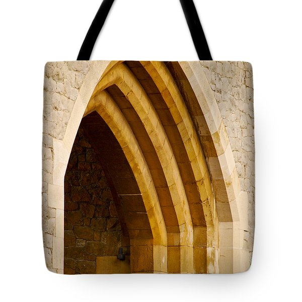 Stone Archway At Tower Hill Tote Bag by Christi Kraft